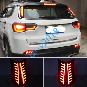 2018 2019 2020 For Jeep Compass LED Rear Taillight Brake Tail Lights Lamp Post c
