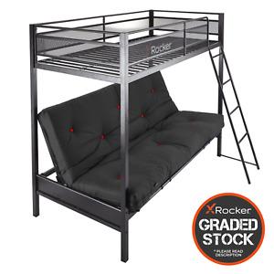 GRADED X Rocker Triple Sleeper Metal Bunk Bed Sofa with Futon *READ DESCRIPTION*