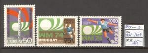 Soccer 1974 A91 Uruguay 3v World Cup Munich CV 25 eur