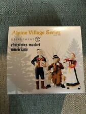 Dept 56 Alpine Village Accessory Christmas Market Musicians Nib