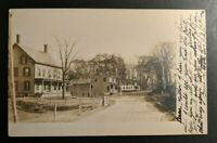 1908 Town Scene Florence Massachusetts Real Photo Postcard RPPC Cover