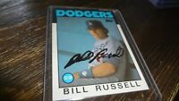 1986 TOPPS BILL RUSSELL AUTOGRAPHED BASEBALL CARD
