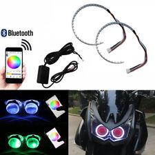 DevilEyeRings Lights RGB LED APP Remote Fit Motorbike Projector Lens Mods