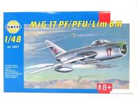 SMER MIG-17 PF/PFU, Kampfflugzeug UDSSR, Bausatz 1:48,0827