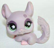 Littlest Pet Shop #360 CHINCHILLA  HASBRO LPS Purple Flower