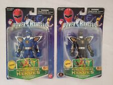 Power Rangers Heroes Dino Thunder Blue & Black Ranger--NIB