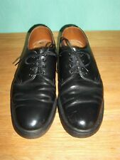 VINTAGE DR MARTENS SHOES SIZE 8 BLACK LACE UP LEATHER RETRO MADE IN ENGLAND