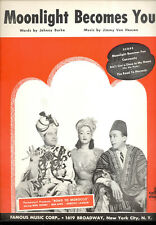 """Road To Morocco """"Moonlight Becomes You"""" Bing Crosby Bob Hope Dorothy Lamour"""