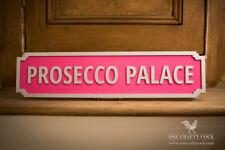 Prosecco Palacio Hecho a Mano signo calle