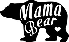 Vinyl Decal Sticker Mama Bear Wild Animal Heart Custom Car Truck Home Window