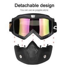 Motorrad Maske abnehmbare Brille und Mundfilter für Motocross Ski Snowboard N9L6