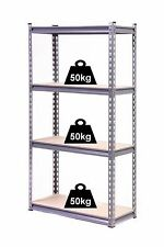 GLOBEL 4 TIER ADJUSTABLE SHELVING UNIT 1370 X 710 X 305mm garage or shed