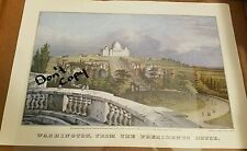 Currier and Ives Print Travelers July  1977 Calendar Washington, President House