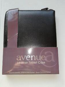 Avenue Black Leather Tablet Case