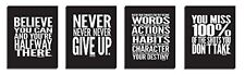 """Inspirational Quotes ● 8"""" x 10"""" inches ● Motivational Posters ● Quote Wall ● Gym"""