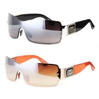 Eyewear Womens Mens Shield Designer Sunglasses Shades Fashion Retro Wrap USA