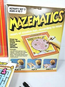 Mazematics Activity Set Hours of Fun Travel or Home Hoyle 1985 Dry Erase Games
