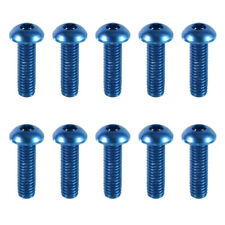 10PCS M3 x 8mm 7075 Aluminum Alloy Button Head Screws,Hex Socket Bolts Deep Blue
