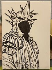 lord of the rings witch King 2.5x3.5 Sketch Card by Nate Rosado Iamnatetheartist