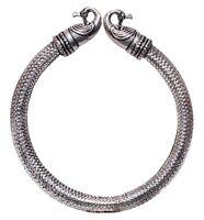 "925 Sterling Silver Plated Handmade Oxidized Bangle,Cuff / Bracelet 2.75"" OB1"