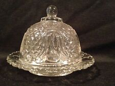 EAPG Federal Glass Child Butter Dish Tulip Honeycomb 1910