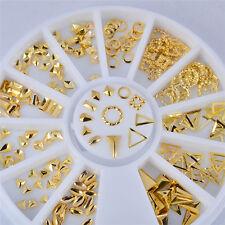 12 Kind Alloy Jewelry Nail Art 3D Metal Nail Art DIY Decoration Stickers Glitter