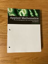 Applied Mathematics for the Managerial, Life, and Social Sciences, 7th edition