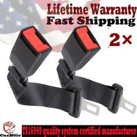 "2× Buckle Car Seat 14"" Safety Extender Belt Extension for Ford Chevy Jeep Dodge"