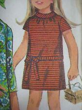 Vintage 60s Simplicity 7184 BIAS ROLL COLLAR SLIMDRESS  Sewing Pattern Girl Sz10