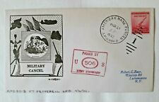 US military patriotic cover APO 801 B Fort Pepperell NFD to Lackawanna 1941 WWII