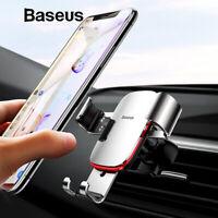 Baseus Car Phone Holder Air Vent Mount Metal Gravity Phone Holder Universal