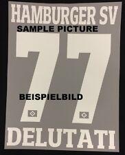 HSV Hamburger SV CUSTOM MADE-Flock 25 cm fürs adidas Away Trikot 2016-2017-2018