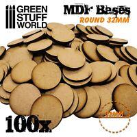 6x MDF Basen 75x42mm OVAL AOS Holz Modellbau Rollenspiele Tabletop Scrapbooking