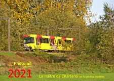 Calendrier 2021 Métro de Charleroi (tram BN TEC, ex-SNCV)