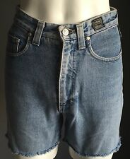 Cut Down VERSACE High Waisted Faded Blue Cut Denim Jeans  Shorts Size 27