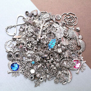 50g Lot Tibetan Silver Mixed Charms Beads Jewellery Making Crafts Mix DIY Acc
