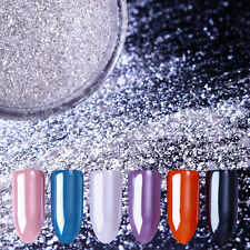 Gem Pearl Mermaid Powder Silver Mirror Glitter Shining Nail Art Dust Born Pretty