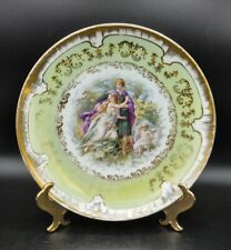 Antique Royal Vienna Beehive Mark Hand Painted Porcelain Couple Child Plate Dish