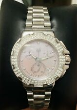 Tag heuer Womens Pink Formula 1 Watch with Diamond bezel And Chronographs