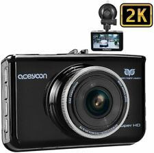 """New listing Aceyoon 2K Dash Cam Dvr Camera 3"""" Lcd 160 Wide Angle Car Dashboard Recorder"""
