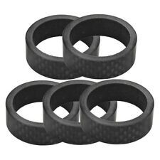 """CARBON FIBER BIKE BICYCLE 1"""" HEADSET SPACERS 10mm X 2 & 5mm X 2 NEW"""