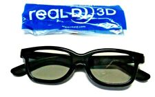 RealD 3D Glasses Black Frame Passive Real D for TV Movie Theaters Video Games