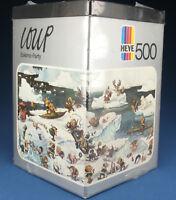 HEYE Dreieck PUZZLE 8317 - LOUP - Eskimo Party - 500 Teile 1974 NEU NEW Jigsaw