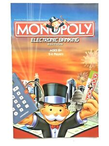 Monopoly Electronic Banking Edition 2007 Pieces: Rules Booklet Rulebook