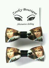 The Labyrinth movie David Bowie Jareth fan, Jim Henson, hair bow clip/slide x2