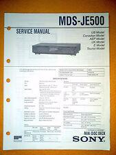 Sony MDS-JE500 Service Manual (original) Used