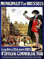 VINTAGE ADVERT MUNICIPALITY BRUSSELS 4TH OFFICIAL COMMERCIAL FAIR PRINT LV4549