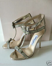 JIMMY CHOO ESCAPE GOLD BOW BRIDAL OCASSION SHOES 36 UK3