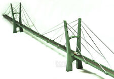 "60"" Model Cable-Stayed Suspension Bridge Display, Diorama, Train 1/160 N Scale"