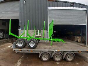 3t telescopic timber trailer including flotation tyres - Optional timber crane